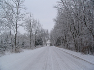 image of winter road